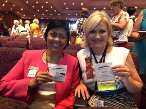 Ela Pandya and Lynn Trice, Delegates at International Convention