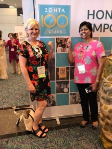 Lynn Trice and Ela Pandya, Zonta 100 Years